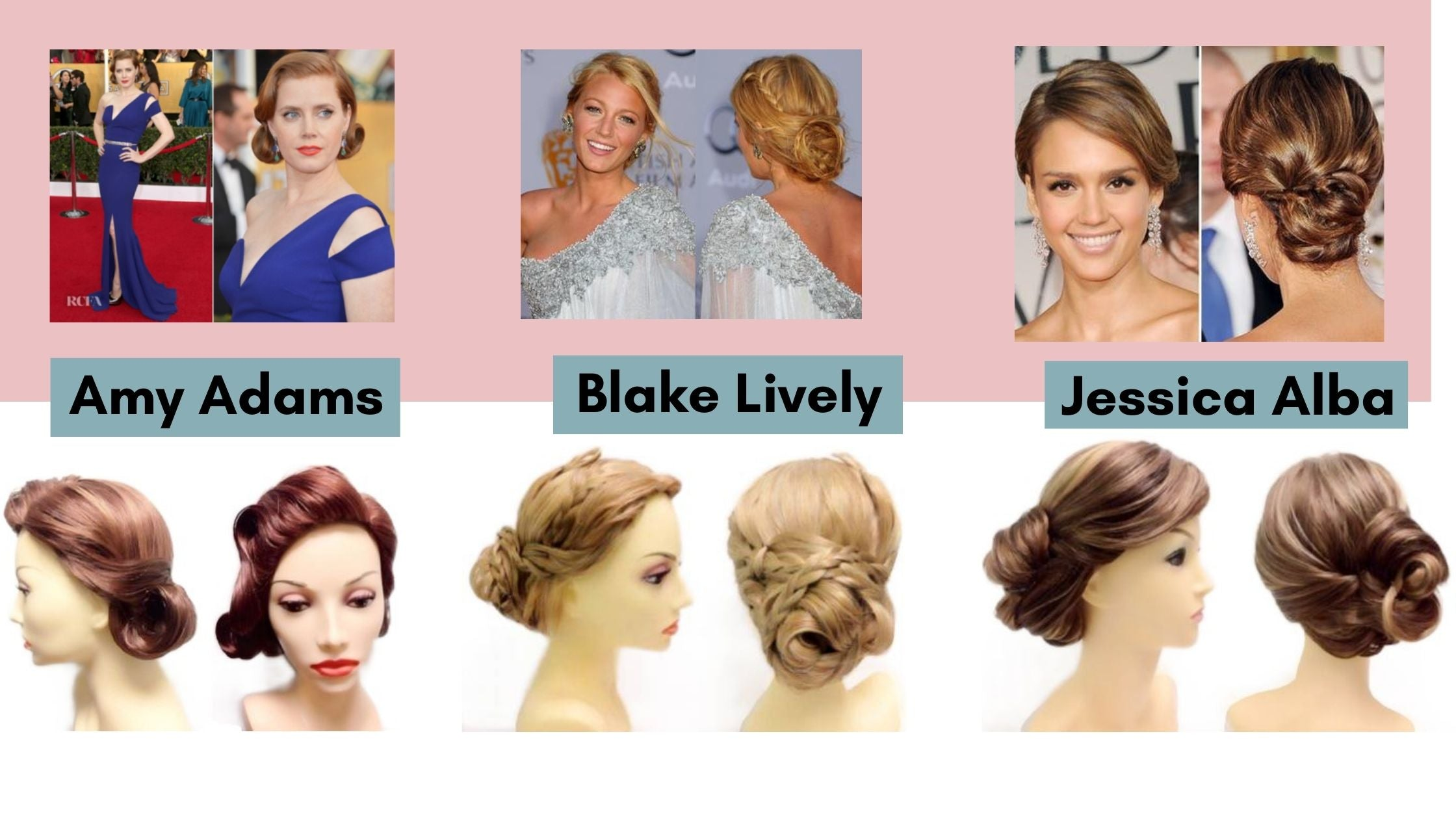 before and after wig styling for amy adams blake lively jessica alba