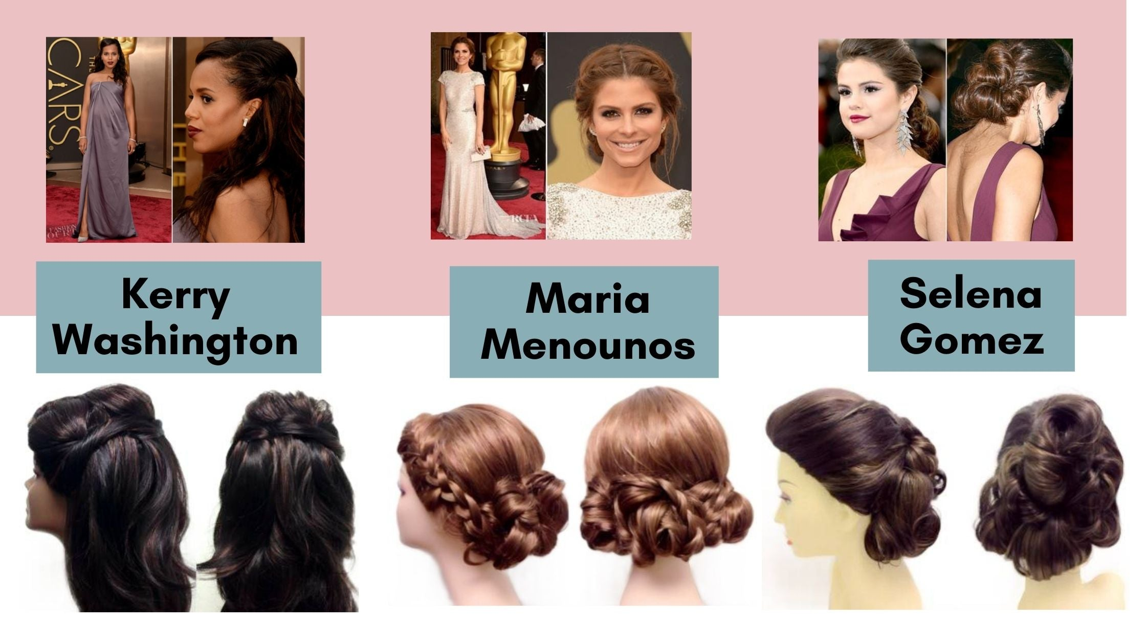 before after wig styling for kerry washington maria menounos and selena gomez