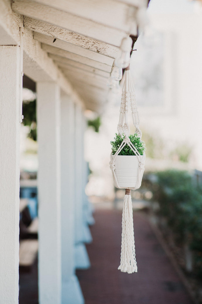 Macrame Plant Hanger with Faux Suede Detail Kit
