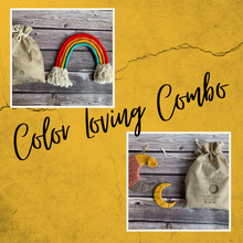 Load image into Gallery viewer, Deluxe Combo - Rainbow + Boho Moon + Feathers DIY Kit