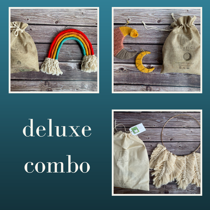 Deluxe Combo - Rainbow + Boho Moon + Feathers DIY Kit
