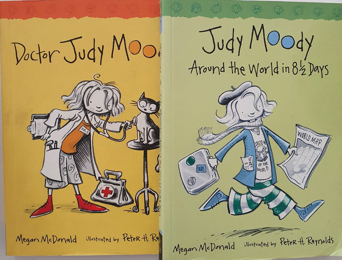 2 books: Doctor Judy Moody, Judy Moody Around the World in 8 1/2 days