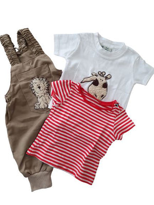 2 Tops+ 1 Dungarees I am about, 0-6 months I am about  (4608319848503)