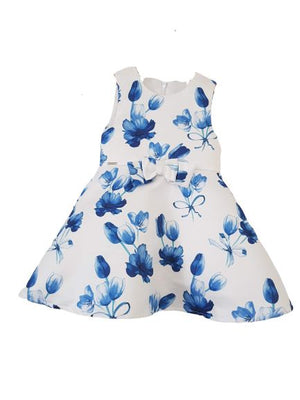 Blue Floral Dress Staccato, 12 months Unknown  (6662165692601)