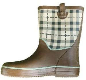 Brown check Rainboots Be Only, Size 31 Be Only  (4630308257847)