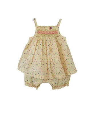 Floral Yellow Romper 3 months (60 cm) Not Known  (4610898657335)