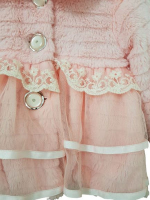 Lace Jacket 2-3 yrs Light Pink jacket with Lace and net  (4626637422647)