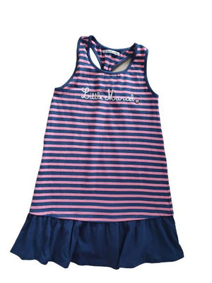 Pink and blue stripped dress little Marcel, 14 yrs ( 164 cm) little Marcel  (4602532102199)