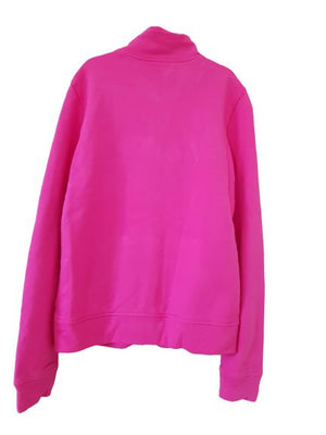 Pink sweatshirt with front zip Benetton, 14 yrs (170 cm) Benetton  (4602532233271)