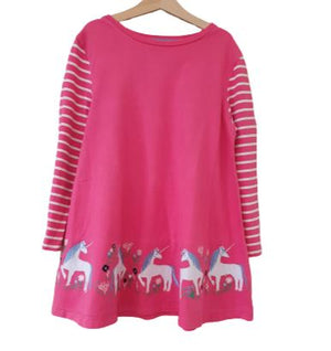 Pink Tunic with striped sleeves Miniboden, 14 yrs( 152 cm) Miniboden  (4602532134967)
