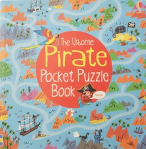 Pirate pocket Puzzle book Like New Usborne  (4620178522167)