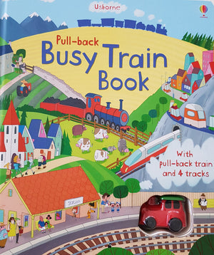Pull-back Busy Train Book New Usborne  (6269017292985)