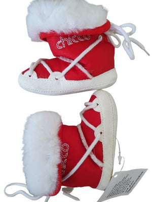 White & Red Boots Chicco,Size 15-16 Chicco  (4622673084471)