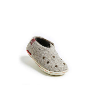 Classic Shoe for Kids - Grey with Rubber