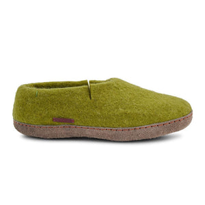 Classic Shoe - Lime Green with Leather
