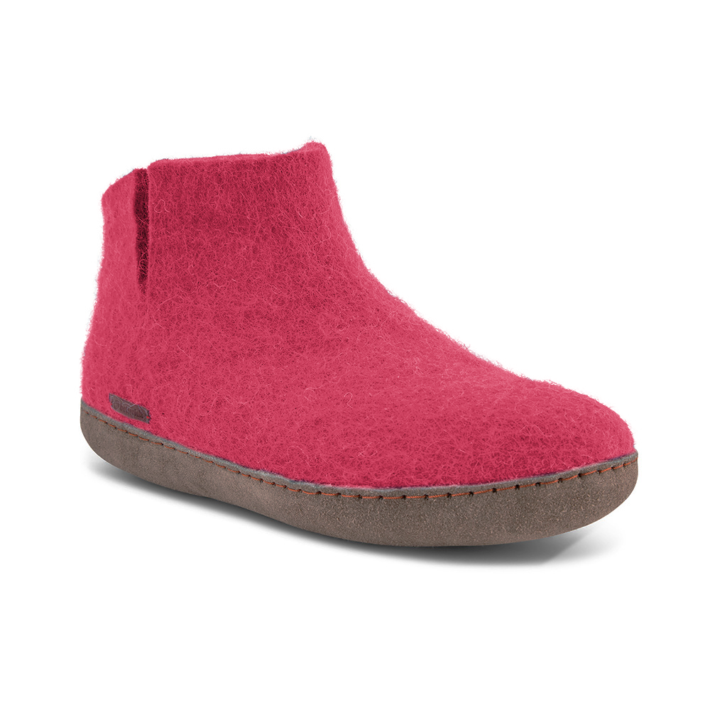 Classic Boot - Pink with Leather