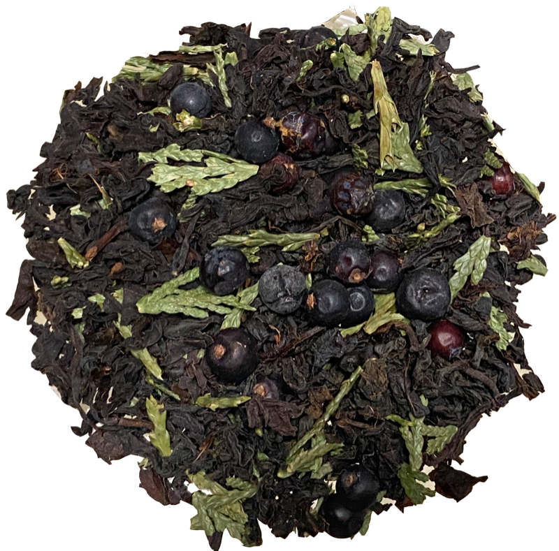 Black Forest Organic with Ceylon OP, Juniper berries, and wildcrafted Western Red Cedar tips