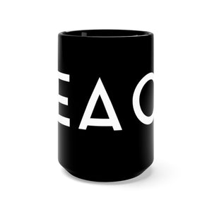 PEACE- Black Mug 15oz