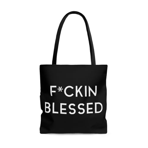 FUCKIN BLESSED - AOP Tote Bag