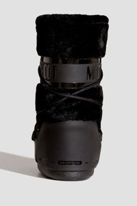 ŚNIEGOWCE MOON BOOT CLASSIC FAUX FUR BLACK