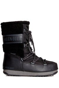 BUTY MOON BOOT MONACO WOOL MID WP BLACK