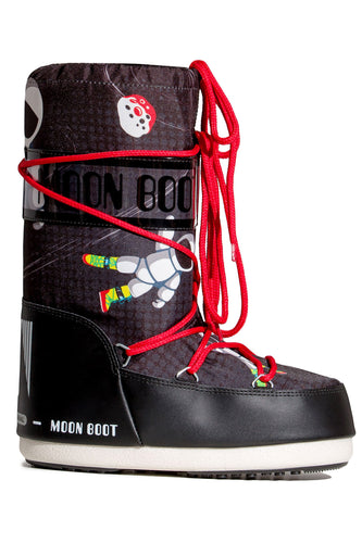 ŚNIEGOWCE MOON BOOT JR BOY SPACE MAN BLACK/ANTHRAC