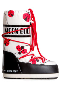 ŚNIEGOWCE MOON BOOT JR GIRL LADYBUG BLACK/WHITE/RE