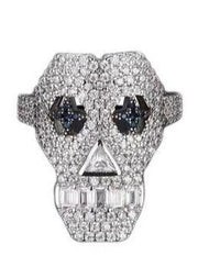 Girl Skull Ring With Diamond