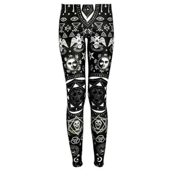 Leggings Satanique Gothique