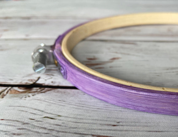 Metallic Purple Embroidery Hoop