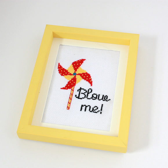 Naughty Cross Stitch Kit For Adults- Blow Me
