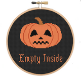 Halloween - Empty Inside Pumpkin - PDF Cross Stitch Pattern