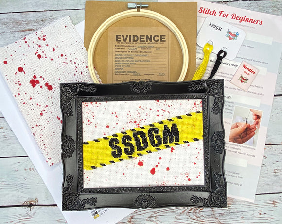 SSDGM Cross Stitch Kit- My Favorite Murder