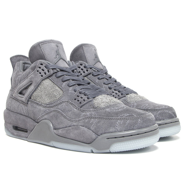 AIR JORDAN 4 IV KAWS DARK COOL GREY SEUDE WHIITE GLOW 930155 003 CEMENT