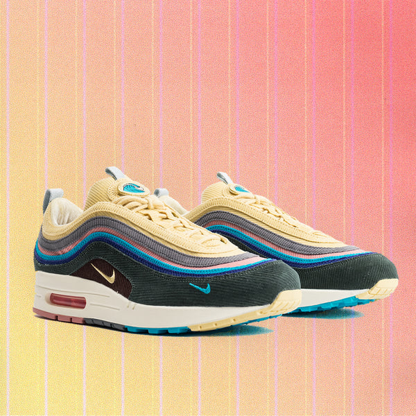 810e6ca8c3 Nike Air Max 1/97 Vote Forward Sean Wotherspoon (Light Blue Fury/Lemon  Wash-Vintage Green)