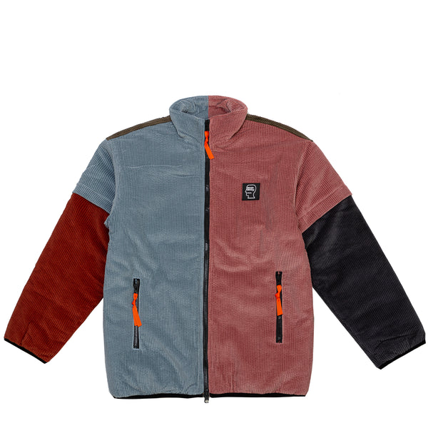 COLOR BLOCKED MIRCO PUFFER W/ REMOVABLE SLEEVES