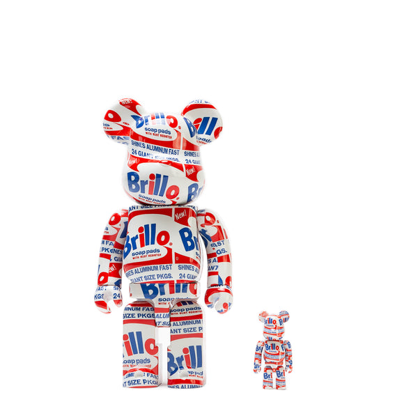 "BE@RBRICK 100% & 400% SET ""BRILLO"" / ANDY WARHOL"
