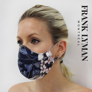 FRANK LYMAN MASK / Denim Blue Gray Pink Floral