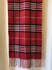 ACN / Scarves Red  With Black & White Plaid Scarf