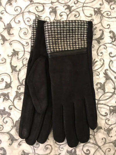 ACN / Black Gloves W/ Herringbone Cuff