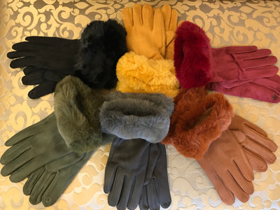ACN / Fur Trim Gloves GLV-I746A
