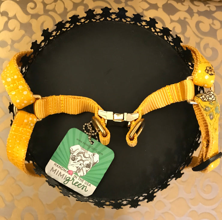 MIMI GREEN / Medium Harness / Honey Floral Dot