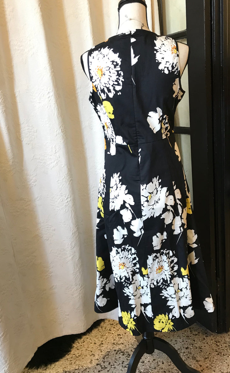 DOLCEZZA / Black & Yellow A-line Dress