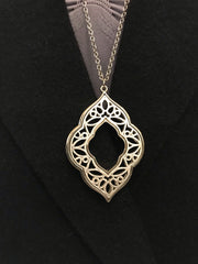 ACN / Silver Long Necklace Moroccan Style Charm