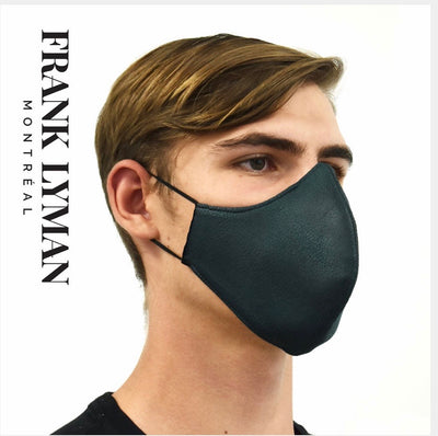FRANK LYMAN / Unisex Hunter Green Faux Leather Mask