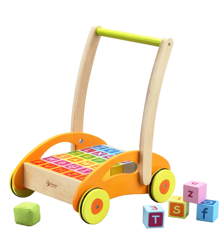 Classic World Toys: Baby Walker with Blocks