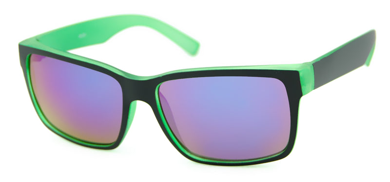 Unity Kids - Matte Black/ Light Green Sunglasses