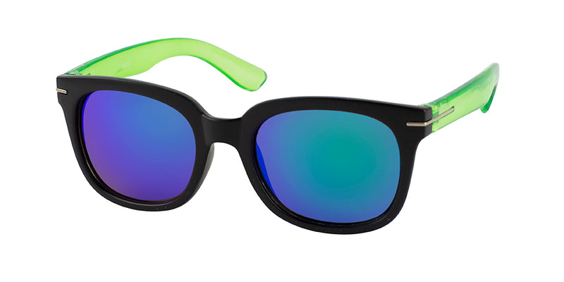 Unity Kids - Matte Black/Green Sunglasses