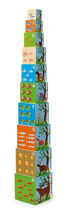 Scratch: Stacking Tower Jumbo Animals of the World, 10 pcs - KidsnToys.co.nz
