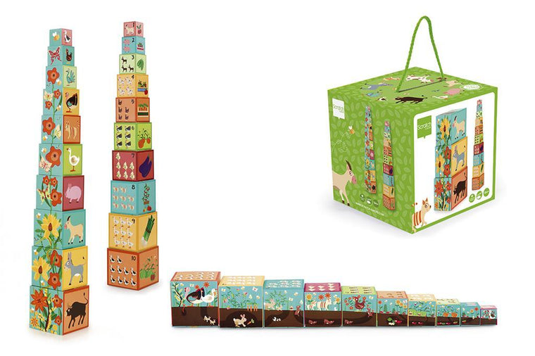 Scratch: Stacking Tower Jumbo Farm, 10 pcs